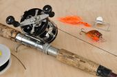 Rod And Baitcasting Reel And Other Fishing Gear