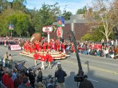 Ohio State University Marching Band And Float