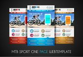 One page SPORT website flat UI design template. It include a lot of flat stlyle icons, forms, header