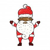 cartoon grumpy santa