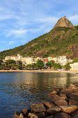 Beach Of Urca Sugarloaf Mountain, Rio De Janeiro
