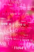Words I Love You As Red Background