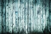 Background texture of a blue  wooden lining boards wall