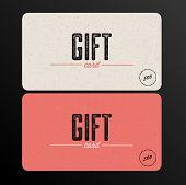 Vector Retro Gift card template