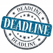 Deadline Blue Grunge Textured Vintage Isolated Stamp