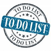 To Do List Blue Grunge Textured Vintage Isolated Stamp