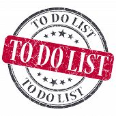 To Do List Red Grunge Textured Vintage Isolated Stamp