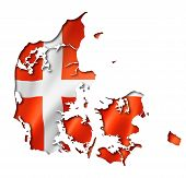 Danish Flag Map