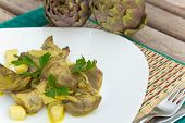 Stewed Artichoke With Potatoes