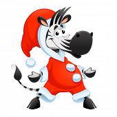 Funny Santa Claus character. Vector isolated element.