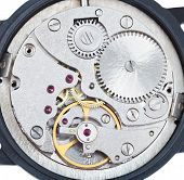 Round Mechanic Movement Of Old Watch