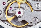 Steel Mechanical Movement Of Retro Watch