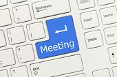 White Conceptual Keyboard - Meeting (blue Key)