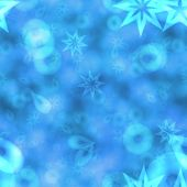 Abstract Bokeh Background In Blue Spectrum