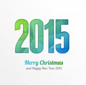 Vector Happy New Year 2015 colorful greeting card