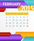 Vector 2015 Calendar February