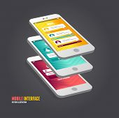 Vector elements of UI. User interface