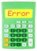 Calculator With Error On Display