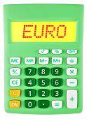 Calculator With Euro On Display