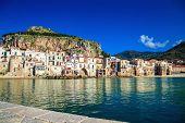 Harbor View Of Cefalu, Sicily