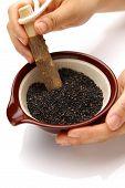 Grinding Black sesame seed