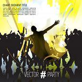 Dancing people, vector illustration