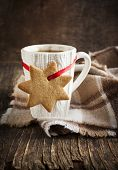 Cup Of Hot Tea And Gingerbread