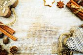 foto of christmas spices  - Christmas baking and christmas spices - JPG