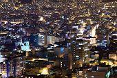 La Paz in Bolivia at Night