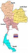 Thailand Map 4 Regions