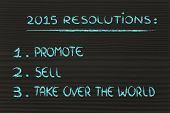 Business Resolutions For 2015