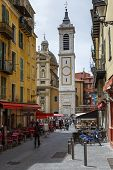 Bell Tower Of Cathedral Basilica In Nice