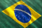 Brazilian flag blurred zoom movement
