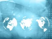 world map technology style for your design
