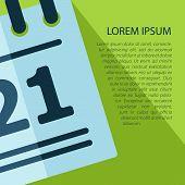 Vector Calendar  Icon With Text. Eps10