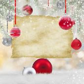 Abstract Christmas background with old paper