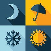 Vector Weather Set Icon. Eps10