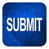 submit flat icon, christmas button