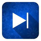 next flat icon, christmas button