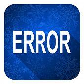 error flat icon, christmas button