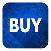 buy flat icon, christmas button