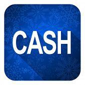 cash flat icon, christmas button