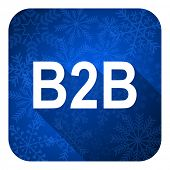 b2b flat icon, christmas button