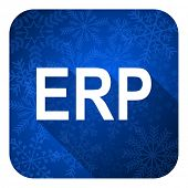 erp flat icon, christmas button