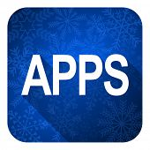 apps flat icon, christmas button