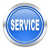 service icon, blue button