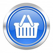 cart icon, blue button, shopping cart symbol