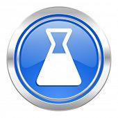 laboratory icon, blue button