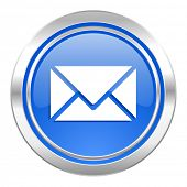 email icon, blue button, post sign