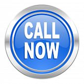call now icon, blue button